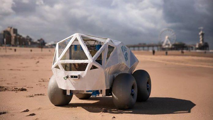 Microsoft Launched An Autonomous Beach Cleaning Robot BeachBot