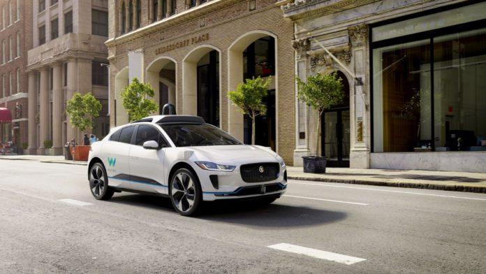 Waymo Jaguar i-Pace robotaxi self driving vehicle